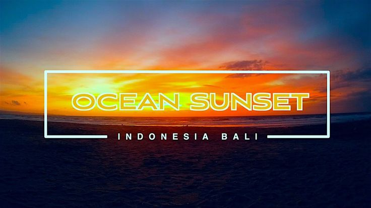 Bali amazing sunset. Kuta beach. January 2015