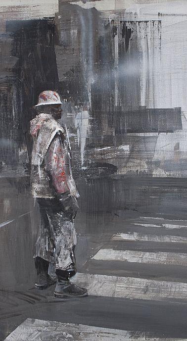 Alexey Alpatov, walk, 2009 - mixed media on canvas, 100/100cm