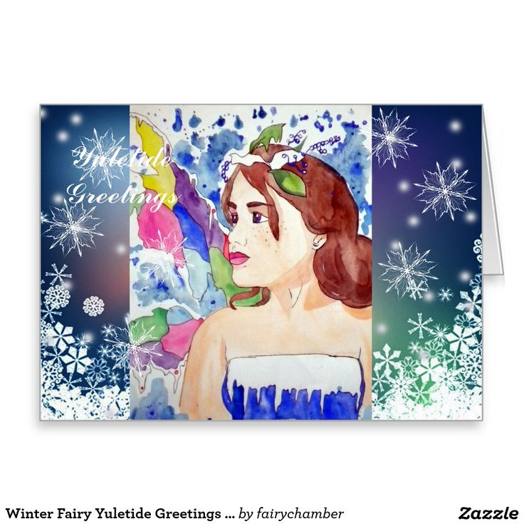 Winter Fairy Yuletide Greetings Greeting Card
