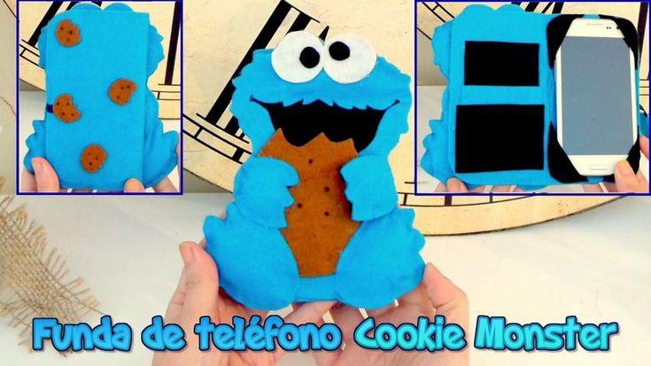 Tutorial paso a paso: Funda para el móvil del Monstruo de las galletas