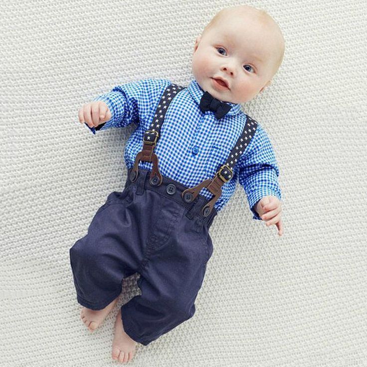 Newborn's Handsome Little Farmer Outfit for Boys