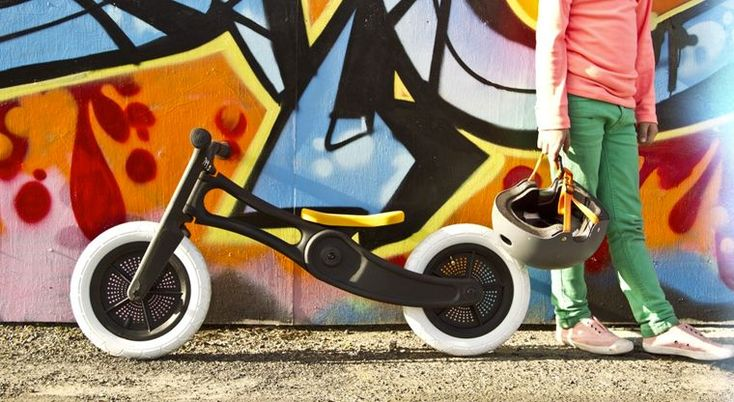 A bike made for recycled carpet? The perfect accessory for playground fun on the streets of Brooklyn.
