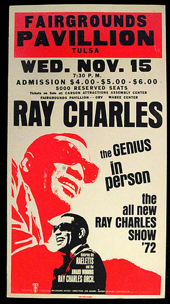 1972 Ray Charles Concert Poster
