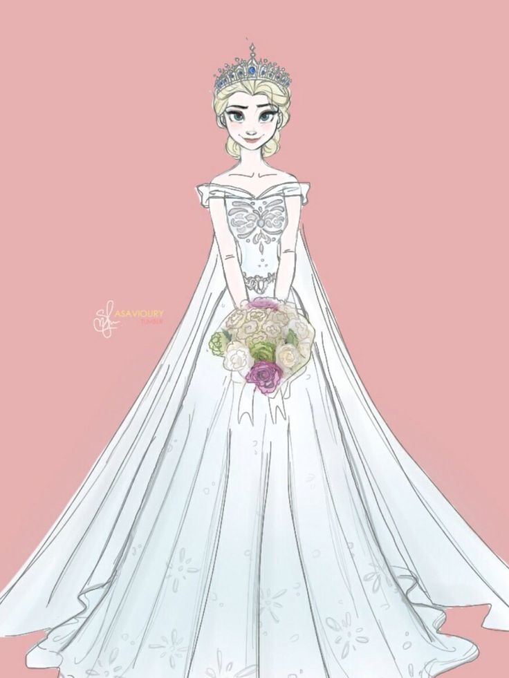 Elsa In Her Wedding Dress