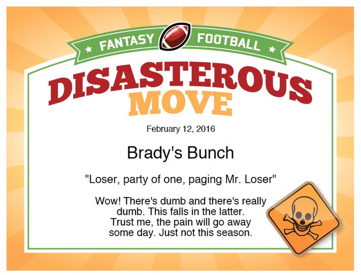 fantasy football certificates  Make a statement in your league with these fantasy football ...