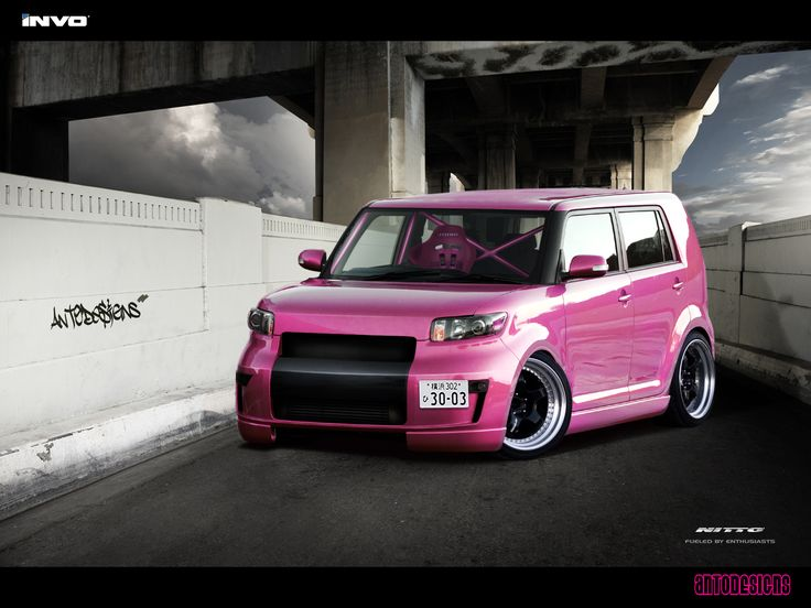 Gentil Scion XB My Dream Car In Pink! Pink/Black Leather Seats All Black Interior.