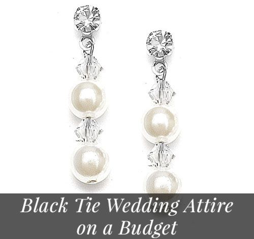Black tie wedding attire on a budget!
