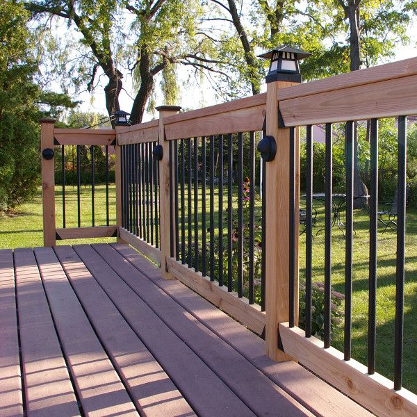 Textured Round Aluminum Balusters By Dekpro Deck Designs Backyard Deck Railings Deck Balusters