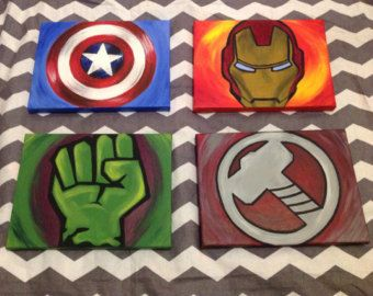 avengers paintings set of 4