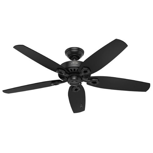 Hunter Fan Company Builder Elite Damp Matte Black Ceiling Fan Without Light | 53294 | Destination Lighting