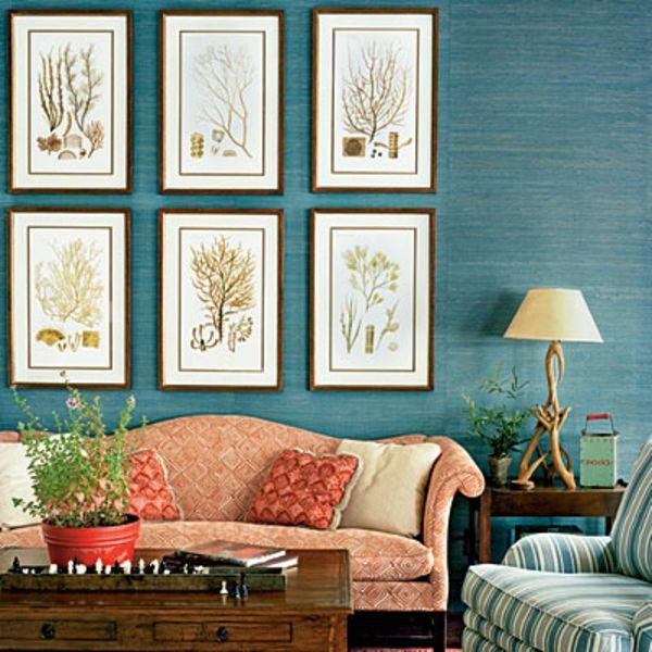 farbideen wohnzimmer meeresblau Wohnzimmer Ideen Pinterest - farbideen