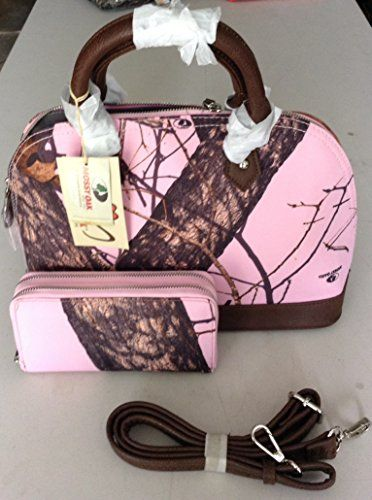 Mossy Oak Purse WITH Matching Wallet (Pink Brown Camo) Mossy Oak http://www.amazon.com/dp/B00M5DLTJG/ref=cm_sw_r_pi_dp_8UEmub05N2W40