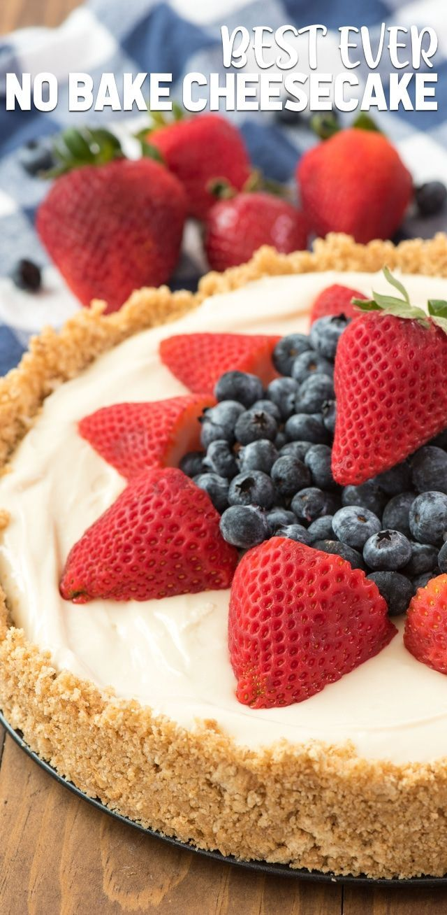 The Best No Bake Cheesecake Recipe Best No Bake Cheesecake Cheesecake Recipes Easy Cheesecake Recipes
