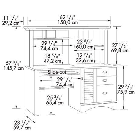 15 Must-see Desk Dimensions Pins   Desk nook, Kitchen office nook ...