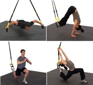 The TRX Strap. A new class that Tera and I took.  I didn't quite look like this..but I can't move my arms now.