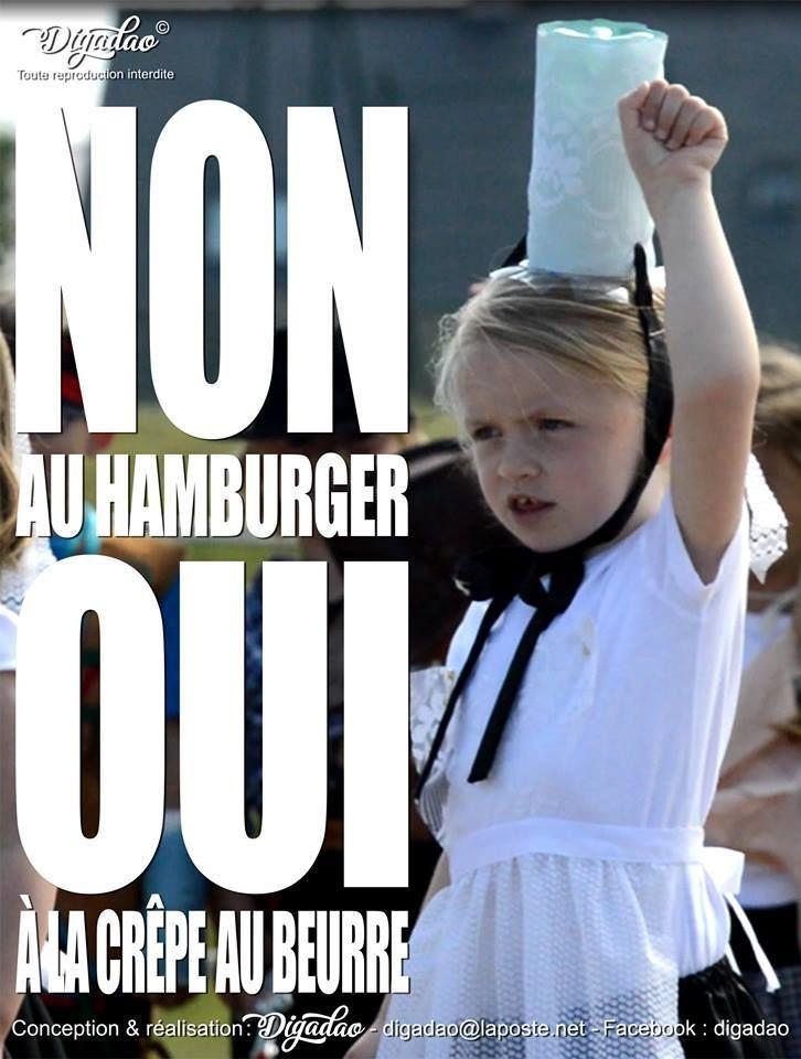 Non au hamburger !