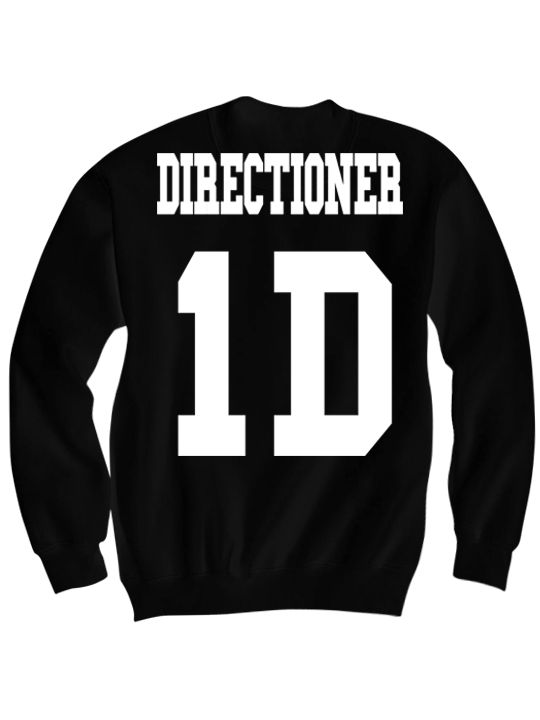 ONE DIRECTION SWEATSHIRT DIRECTIONER JERSEY SHIRT ONE DIRECTION CONCERT TICKETS 1 DIRECTION MERCH CELEBRITY SHIRTS GREAT BIRTHDAY GIFTS BIRTHDAY SHIRT