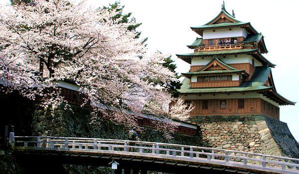 Suwa-Takashima castle at nagano prefecture