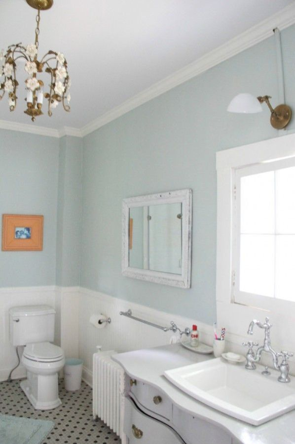 Palladian Blue master bath color, by Benjamin Moore | My old country house blog