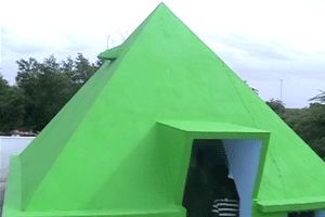 Pyramid Meditation Center year of construction : 2011 size : 10ft x 10ft (roof top) | capacity : 20 persons cost incurred :  1 lakh | type of structure : RCC timing : 24x7 , open for public use technical support : Pyramid Johny contact : Daram Srinivas mobile : +91 94909 58738 address : Kuda Kuda, Suryapeta, Nalgonda district http://www.pyramidseverywhere.org/pyramids-directory/telangana/nalgonda-district  #Pyramid #Pyramids
