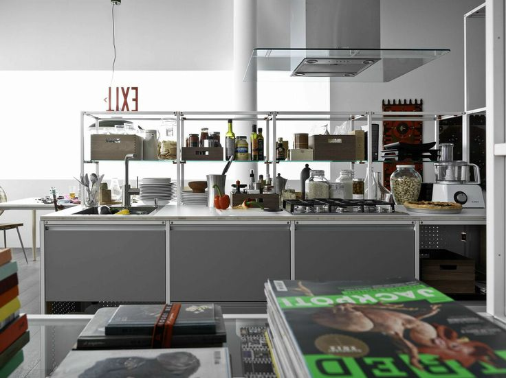 Multi Layer Wood Fitted Kitchen MECCANICA By VALCUCINE Design Gabriele  Centazzo