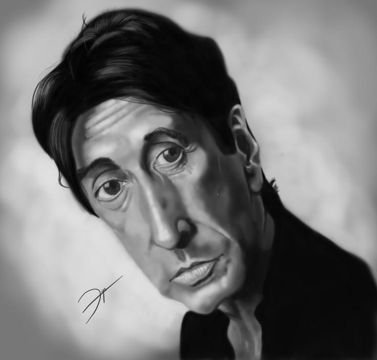 #Al #Pacino #digital #caricature by #Dani #Gonzalez, www.danigonzalez.com
