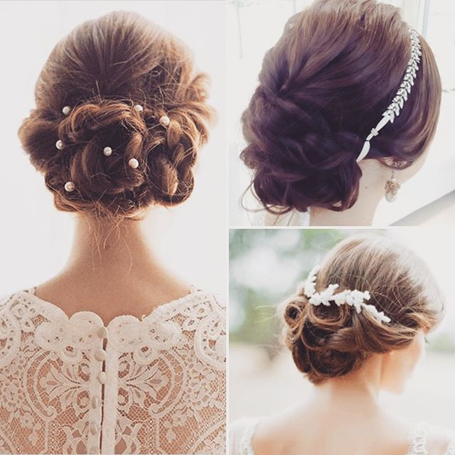 ウェディングドレスの時はこのような感じでシニヨンを下の方で作って、トップはあんまり盛らず、ティアラを付けようと思っています♡シニヨンにパールとかキラキラを付けたらすごくかわいい〜!! もう少し髪を伸ばさないとなぁ。。ぐすん みなさんはどんな髪型がおすすめですか??^_^ #プレ花嫁 #パレスホテル #ヘアスタイル #ヘアアレンジ #シニヨン #ティアラ #クラシカル