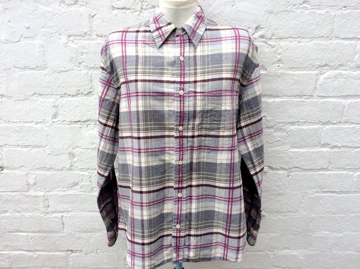 Women's flannel shirt, plaid top, oversized 90's fashion by retrobelluk on Etsy https://www.etsy.com/uk/listing/526167215/womens-flannel-shirt-plaid-top-oversized