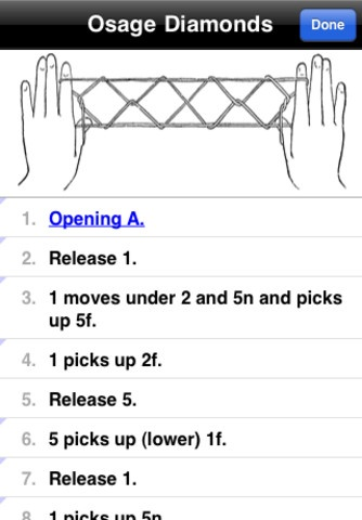 iPhone app for making string figures