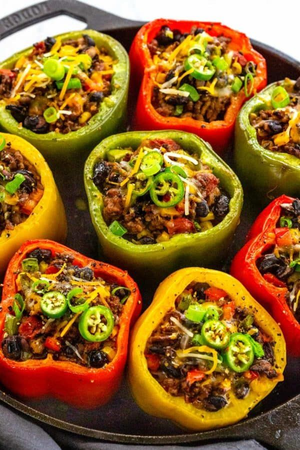 Stuffed Peppers With Ground Beef Jessica Gavin Recipe Stuffed Peppers Tomato Recipes Recipes