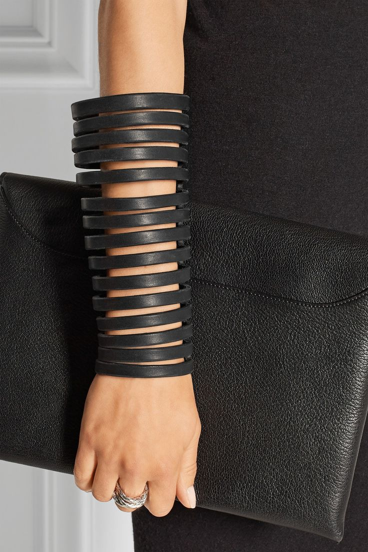 Rick Owens | Cutout leather arm cuff                                                                                                                                                      More
