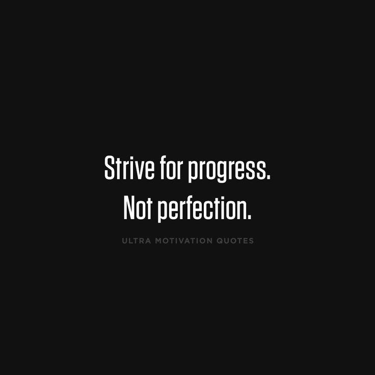 Persistence Motivational Quotes: Die Besten 25+ Progress Not Perfection Ideen Auf Pinterest