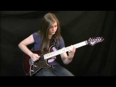 CHECK OUT THIS LIL LADY!!! 14 year old girl playing guitar cover Van Halen - Eruption solo HD best ...
