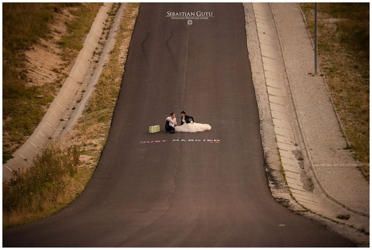 #wedding #road #just married