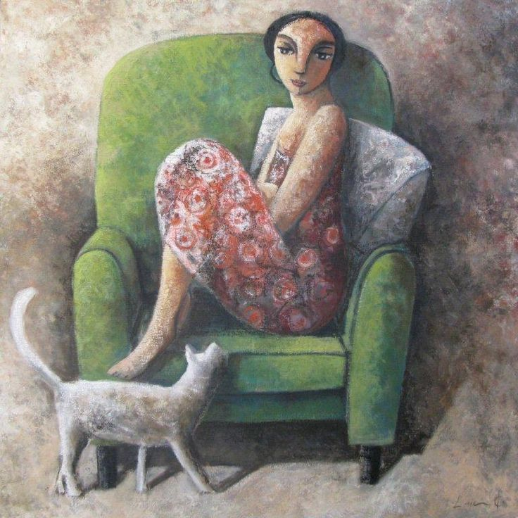 "Cats in Art and Illustration: ""Cat and I"" (2012) by Didier Lourenco"
