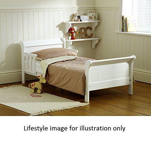 Saplings White Poppy Junior Bed Pine With Foam Safety Mattress