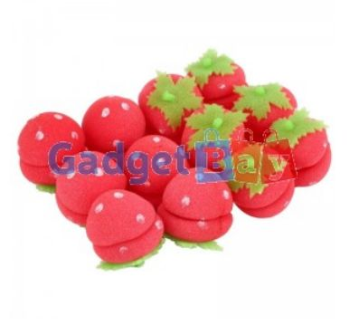 12x Strawberry Balls Hair Care Soft Sponge Rollers Curlers Lovely DIY Tool Buy it on www.gadget-bay.com Free Shipping Europe wide