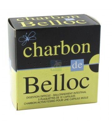 Charbon de Belloc 125 mg  x 60