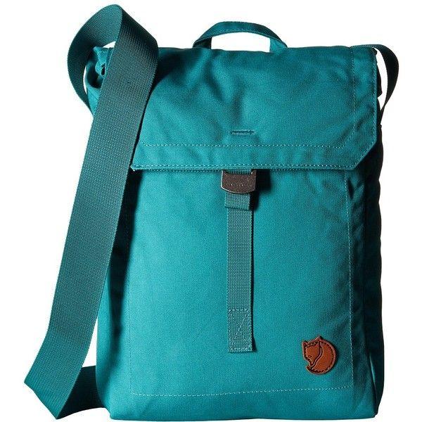 Fj  llr  ven Foldsack No. 3 (Copper Green) Backpack Bags (£39) ❤ liked on Polyvore featuring bags, backpacks, travel bag, fold over backpack, travel daypack, green backpack and foldover bag