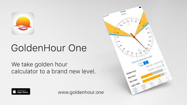 Coming Soon to the AppStore.  |   (@GoldenhourOne) | TwitterGoldenHour.One #sunrise #sunset #goldenhour #bluehour #ios #redsky #photography