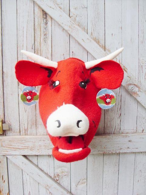 Feutre Art Textile  Création Vache qui rit par Birgit Nagelke