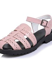 Women's+Sandals+Summer+D'Orsay+&+Two-Piece+Comfort+Leatherette+Dress+Casual+Flat+Heel+Buckle+Hollow-out+–+CAD+$+95.77