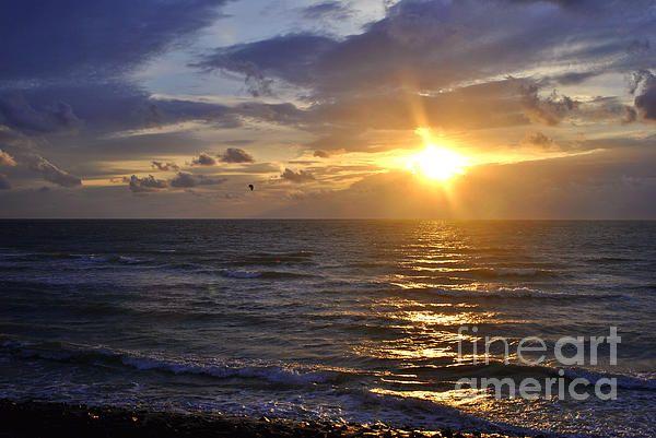 Sunset on the beach in Zeeland