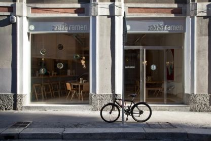 """Where chefs eat: Milan: Zaza RamenRecommended by: Gualtiero MarchesiBest for: bargain""""They serve many different bowls of ramen, it is decorated inhale wood and there are no tablecloths. The atmosphere is contemporary, pleasant, fast-paced and interesting."""""""