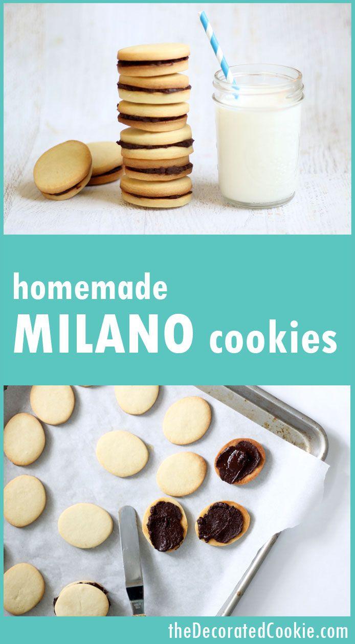 homemade Milano cookies, Pepperidge Farm