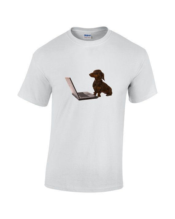 Teckel Dog T Shirt Tee Direct To Garment by FreakyTshirtShop