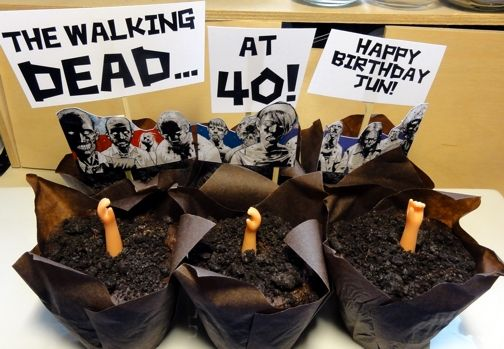 Walking Dead Zombie Cupcakes - definitely making these for our season finale party :D