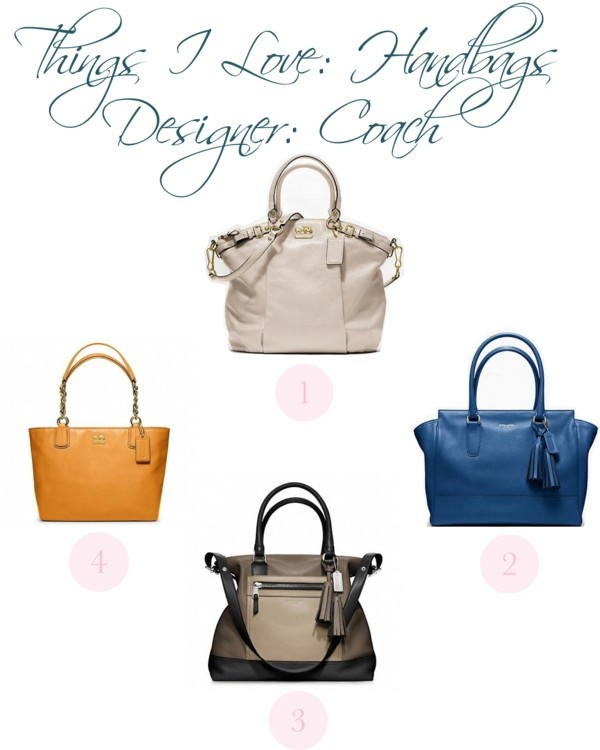 """Things I Love: Handbags: Coach"" by christinamartinaxoxo ❤ liked on Polyvore"