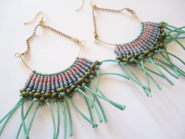macrame https://www.etsy.com/listing/225862501/macrame-handmade-earrings?ref=listing-shop-header-2