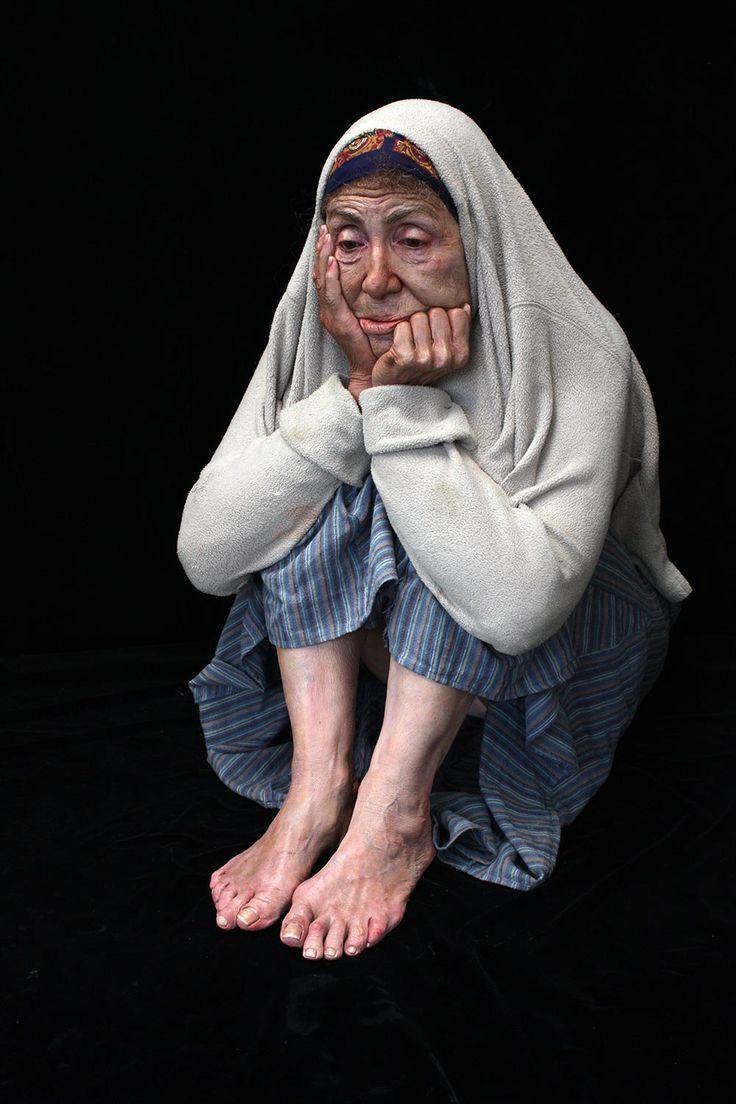 Marc sijan life size figurative hyper realistic sculpture